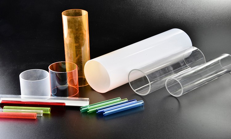 High quality large diameter colours acrylic tubes from China