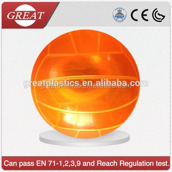 eco friendly transparent customized beach ball for sport on promotion