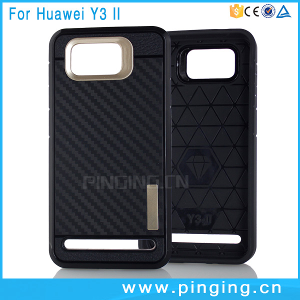 High quality carbon fiber back cover case for huawei <strong>y3</strong> ii lua l21
