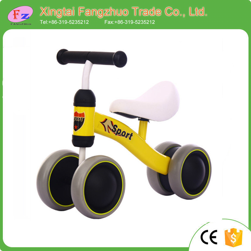Steel kids balance bike/small ride on toy baby balance bike for little kids