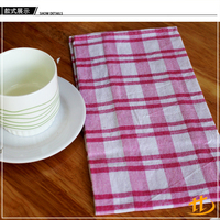 China Factory Supply Cheap Unique Personalized Plaid Home Textile Tea Towel