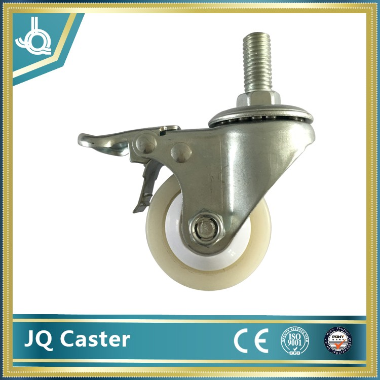 55mm white pu caster wheel