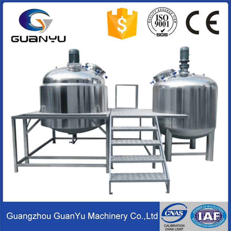 Industrial Chemical Mixer Agitator Detergent Production Equipment Industrial Cosmetic Powder Liquid Mixer