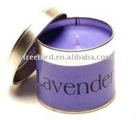 Tin candle for Spa & Massage