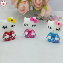 Resin lovely pink mini ornaments hello kitty wholesale