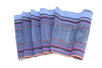DIY Craft Supplies Hmong Textile Batik Printed Roll Thailand - Blue