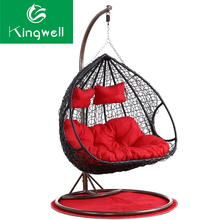 Outdoor rattan basket double seater swing hammock hanging chair