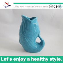 New fashion ceramic pitcher and water jug with brush effect on the rim for NFA0481