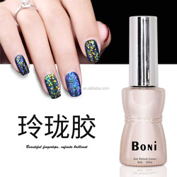 Sexymix 2017 Colorful Professional Glitter Effect Blue Color Shiny Nail Gel Polish Top Quality Soak off UV Nail Gel Varnish