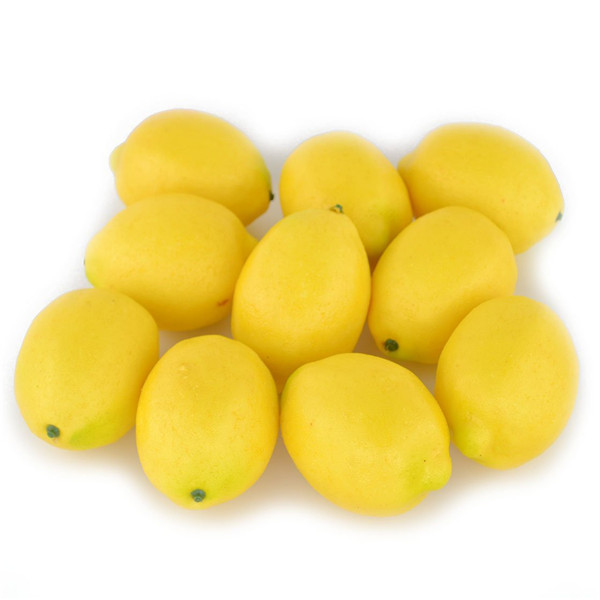 2017 wholesale cheap lifelike artificial plastic lemon fruit for decoration