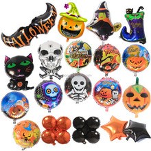 2017 Hot sell Halloween Decorations Various Balloons Black Bats/Pumpkin Head/Skull/Wizard/Black Cat For Party