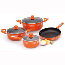 bright color excellent aluminum non-stck cookware set in houseware
