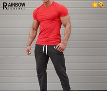 Cheap Gym Wear Cool Fit Crew Neck Mens Muscle T shirts In Summer