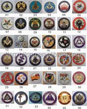 Die casting cut out masonic cool car badge