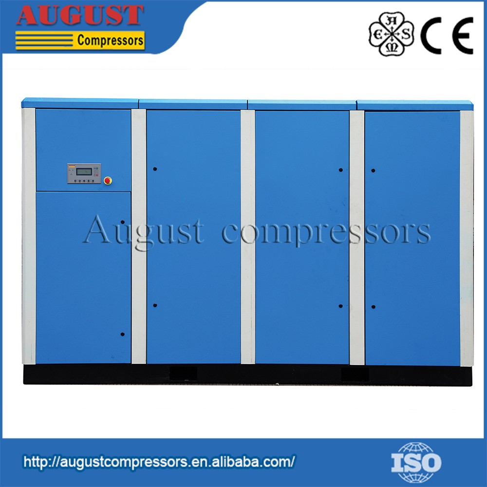 Low noise 250KW/335HP 13 bar Stationary High Pressure Air Screw Compressor
