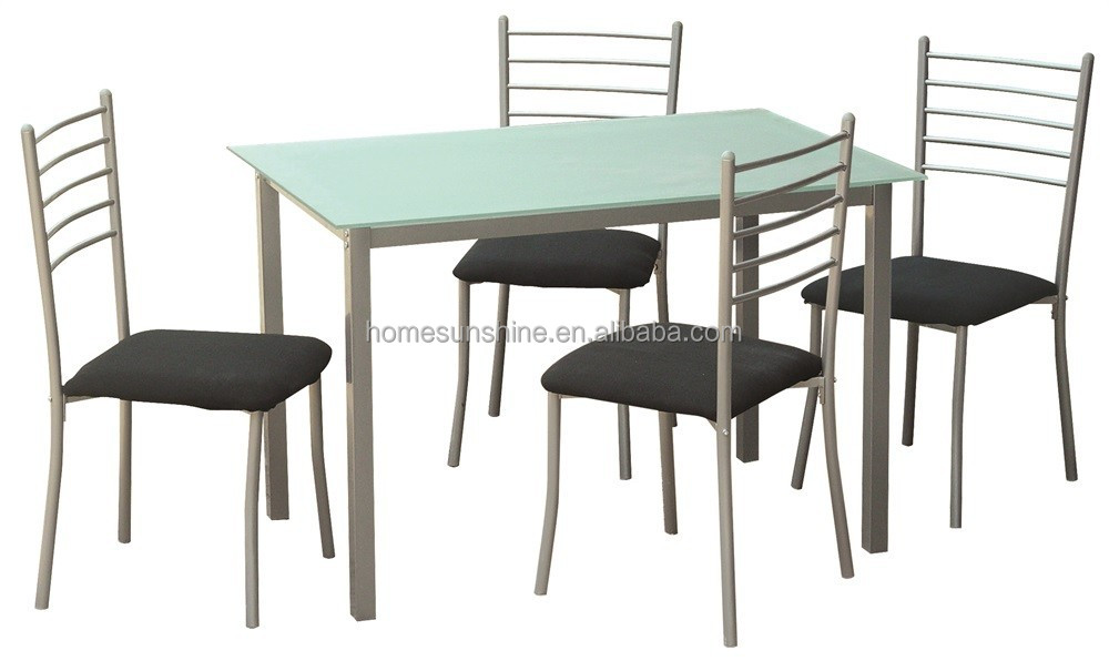 Glass dining table with chairs glass dinning sets