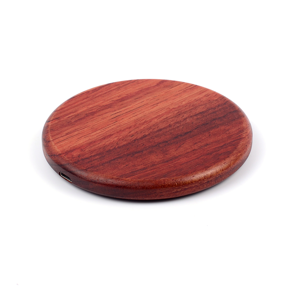 universal company branded promo gifts Bamboo wood wireless charger pad