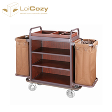 LAICOZY Guest Room Cleaning Trolley /Hotel Housekeeping Maid Cart Trolley