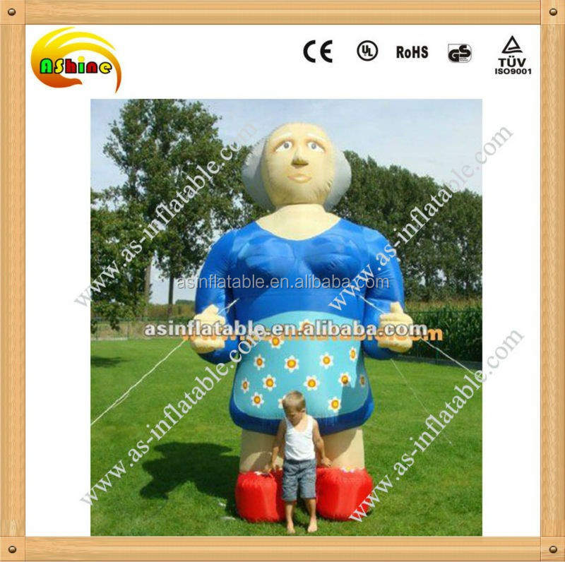 Fashion design advertising inflatable lady model