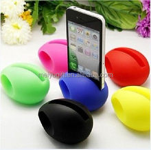 Customized color soft Silicone egg speaker for iphone 4/4s/5/5s