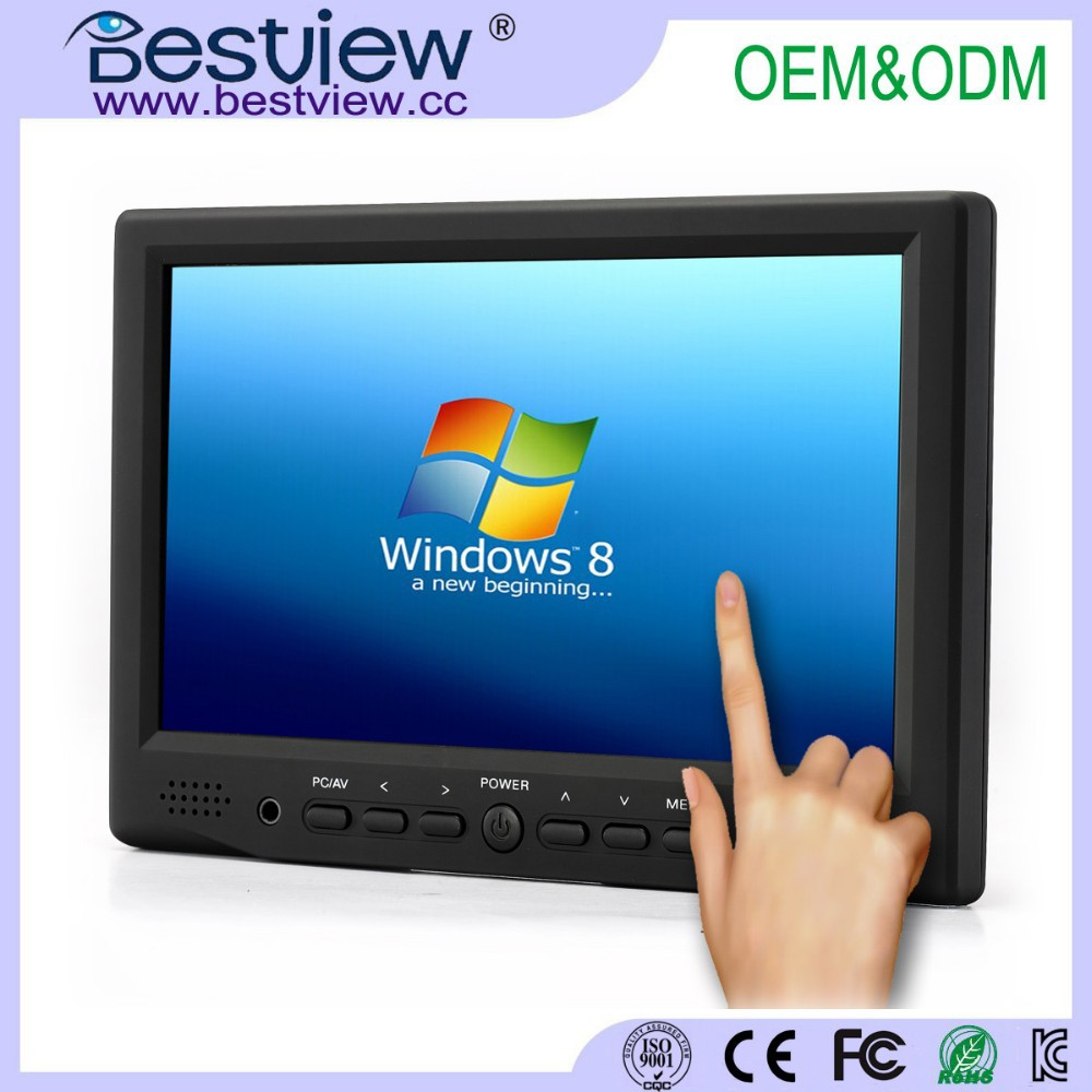 Widescreen 16:9 display type 800x480 7 inch touch monitor with HDMI