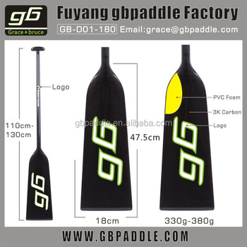 2016 GB PADDLE IDBF Approved Carbon Fiber Dragon Boat Paddle