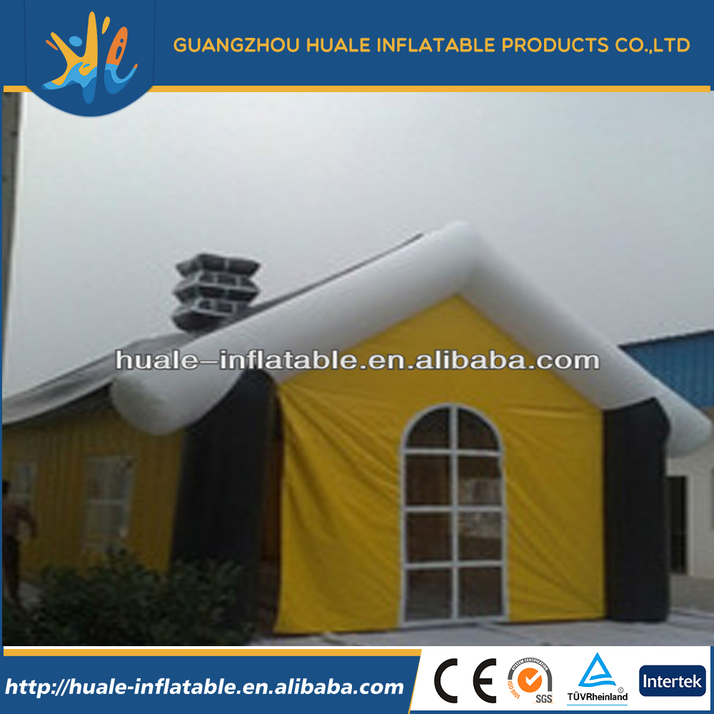 Family /commercial use inflatable cabin tent /lovely inflatable camping tent for sale