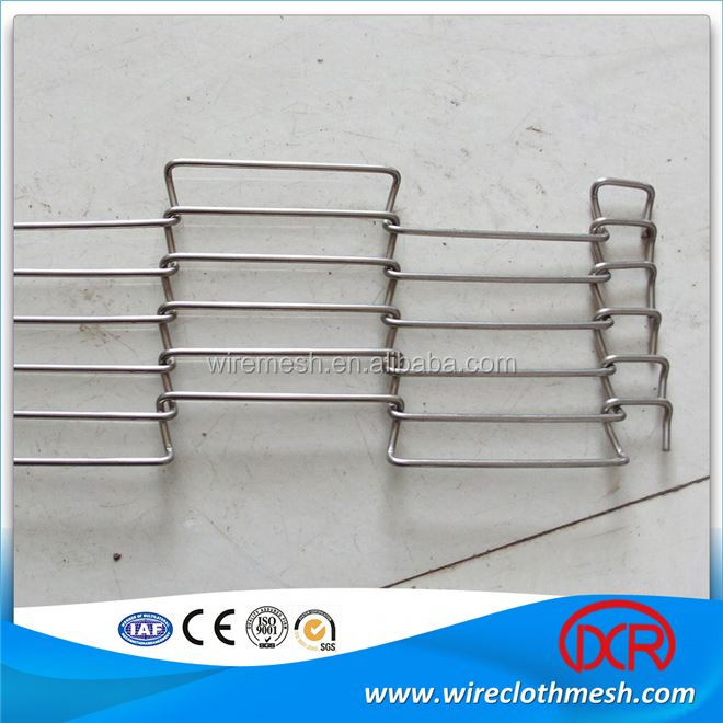 Iso approved widely used 304 stainless steel wire belt conveyor