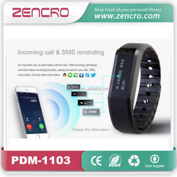 2016 Newest Designed OLED Touch Screen Bluetooth Bracelet Fitness Activity Tracker Smart Wristband Pedometer Watch
