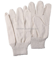cotton drill cotton knitted gloves