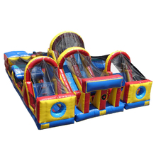 Hot obstacle course bounce house, obstacle courses bouncer, inflatable bouncer obstacle course