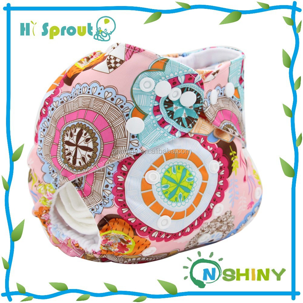 2015 Hot Sale Printed Baby Cloth Nappie Waterproof Reusable Diaper Cover