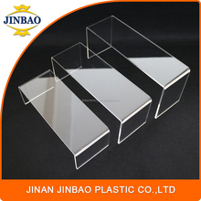 JINBAO hot selling showing stand cosmetic fashionable acrylic jewelry display case