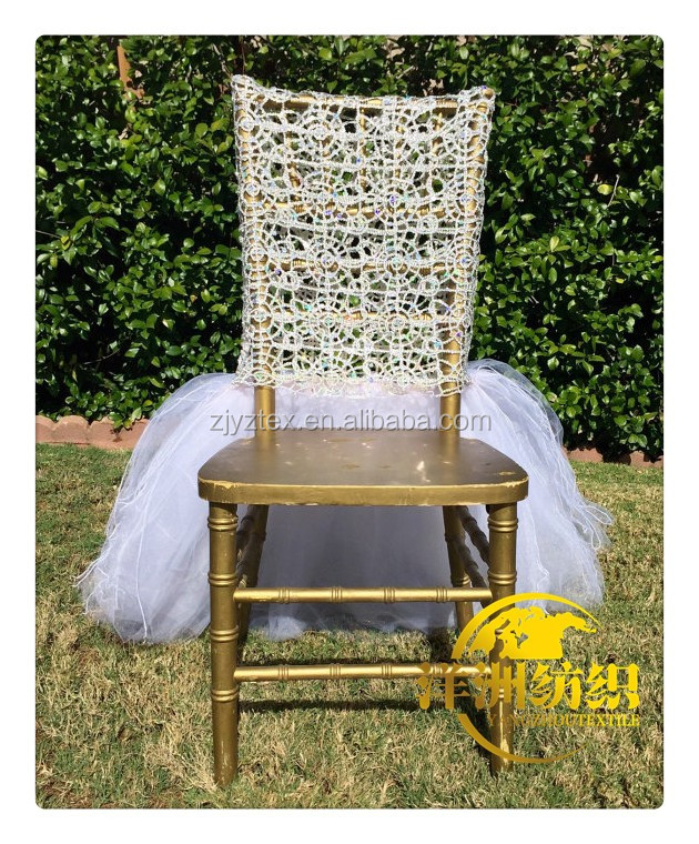 white chiavari chair covers net embroidery chair cover