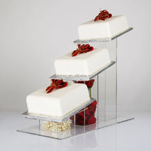 High Quality Customized 3 Tiers Clear Acrylic Round Circle Cake Display Shelf / Acrylic Cake Stand