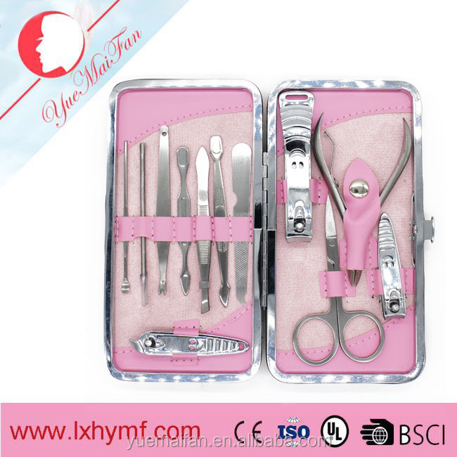 12pcs Manicure Set Womens Mens Nail Care Cuticle Clipper Scissors Grooming Kit