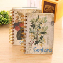 A6 classic flower hardfaced white page this coil notebook