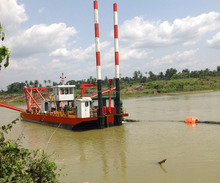 China lower price new hydraulic sand pump suction dredger for sale