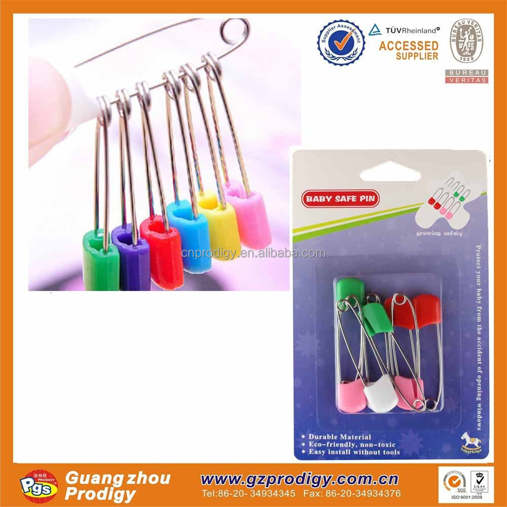 8Pcs Nice Safety Hold Locking Baby Dress Cloth Nappy Diaper Shower Pins Kit