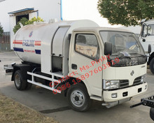 Liquefied petroleum gas Bobtail Tank Truck 5000L LPG Skid Filling Truck for Cooking Gas Cylinder for Sales