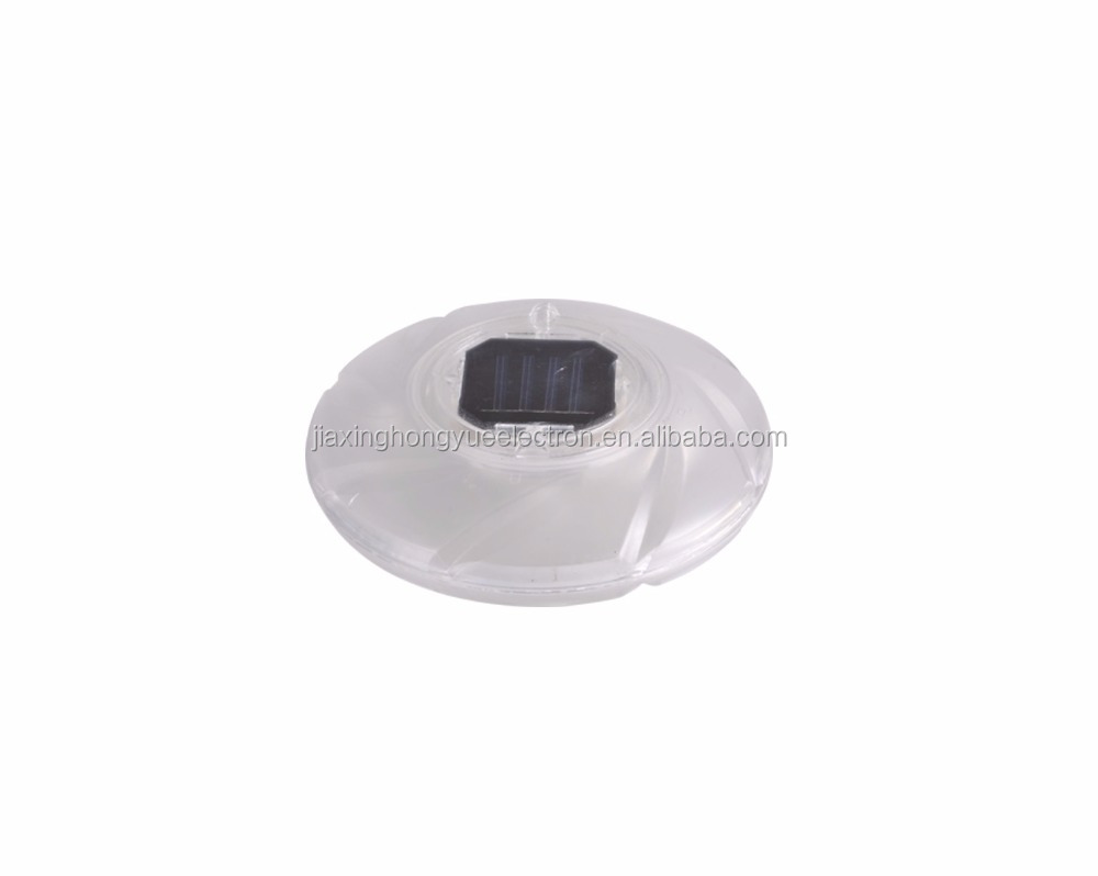 Solar pool light/solar swimming frisbee light/plastic solar light