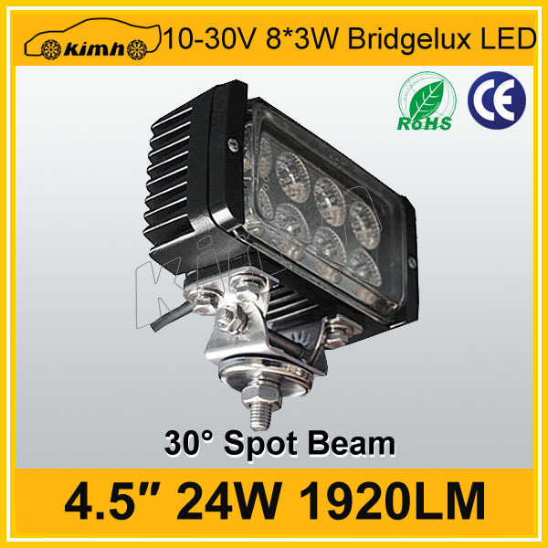 Low defective led light 24w outdoor led working light