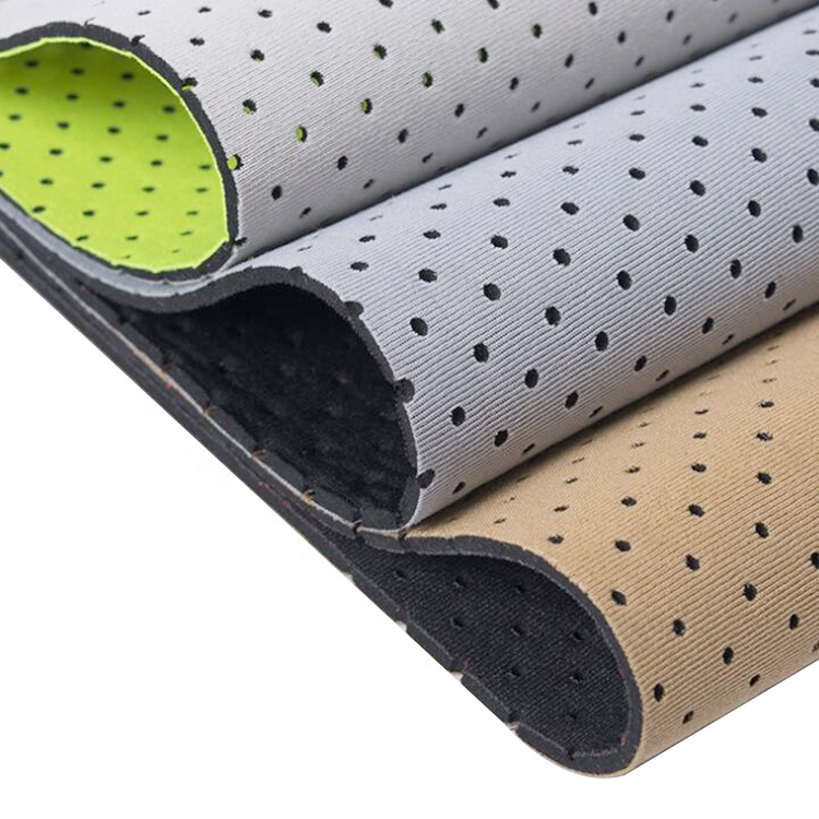 New Eco-friendly Neoprene Fabric neoprene rubber sheet anti-slip surface for shoes and carpet