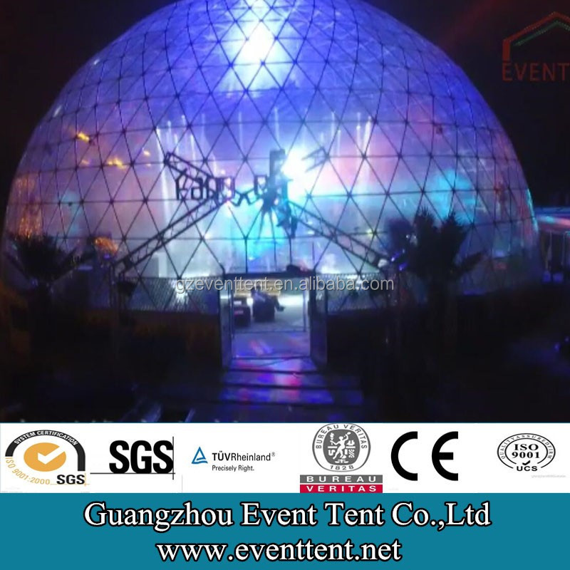 Clear PVC canvas dome tents 20meters, stage tent night club geodesic dome
