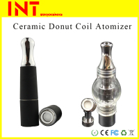No wick wax coil vaporizer ceramic donut atomizer with Paypal accept