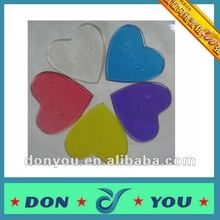 PU material heart shaped car non slip anti slip gel pad