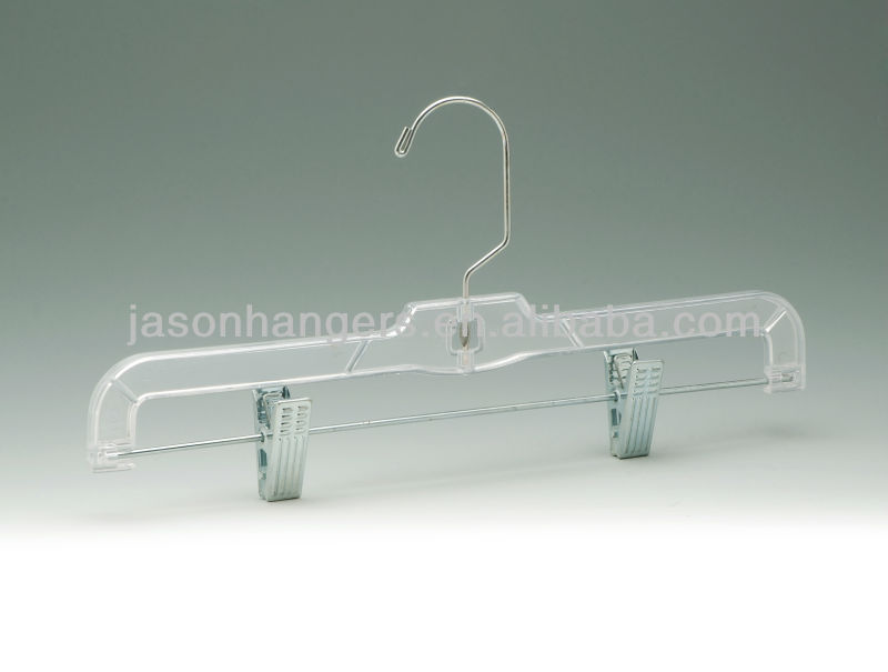 Transparent Plastic Hanger with clips
