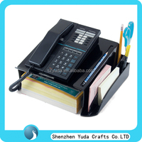 High quality black acrylic home phone stand counter top phone display with phone book holder