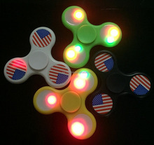 Hot sale logo OEM LED spinner fidget toy finger spinner with bearing 608
