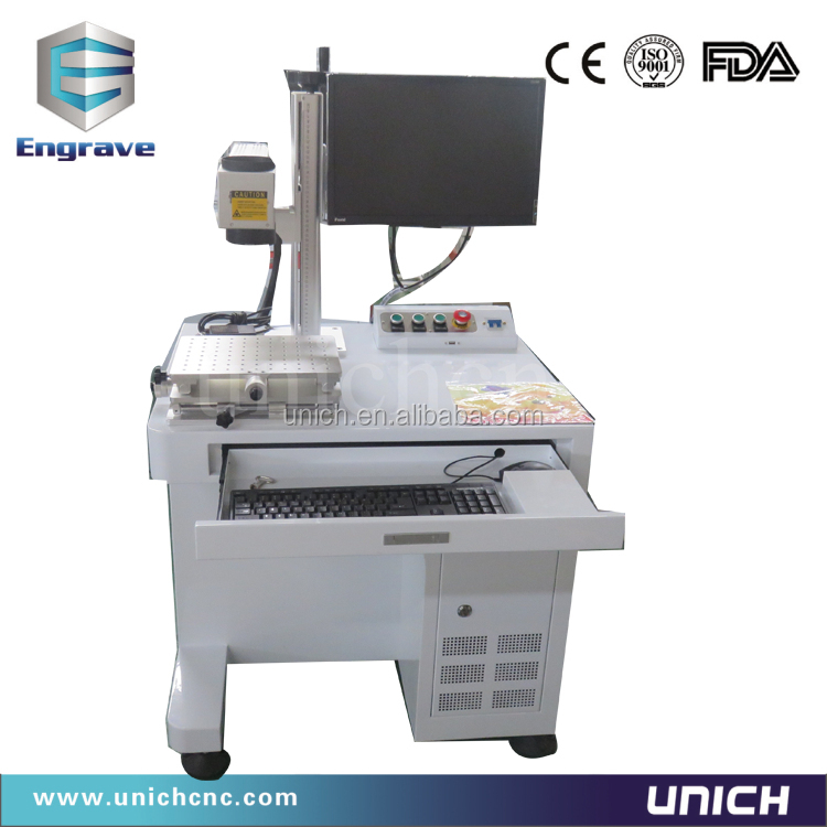 Fiber laser marking machine for metal/cost effective printing metal machine/plastic button laser engraving machine